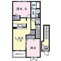 Belle Maison桜II[2階]の間取り
