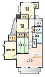 レジディア徳川[1階]の間取り