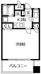 遊ビル笹丘[3階]の間取り
