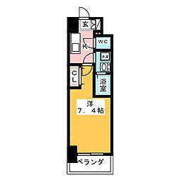 S-RESIDENCE浄心 9階1Kの間取り