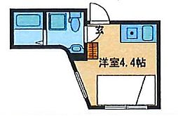 JR山手線 駒込駅 徒歩3分の賃貸マンション 3階ワンルームの間取り