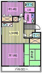松沢マンション[2階]の間取り