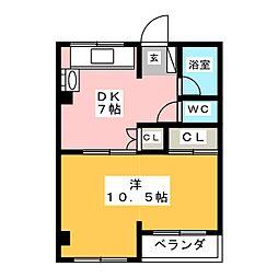 ハイツ山田[1階]の間取り