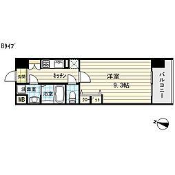 ノースヴィレッジバースプレイス[9階]の間取り