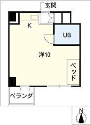 関権第3ビル[6階]の間取り
