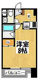 大阪府大阪市城東区新喜多2丁目の賃貸マンションの間取り