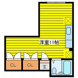 北海道札幌市東区北十八条東3丁目の賃貸マンションの間取り
