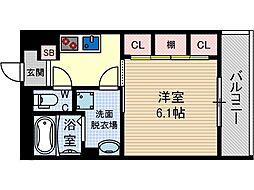 リブリ・末広[3階]の間取り