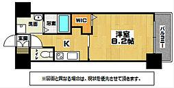 JR鹿児島本線 西小倉駅 徒歩32分の賃貸マンション 6階1Kの間取り