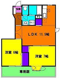 静岡県浜松市中区西丘町の賃貸アパートの間取り