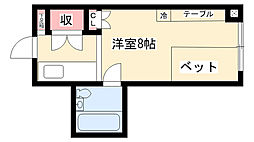愛知県名古屋市名東区上社1丁目の賃貸マンションの間取り