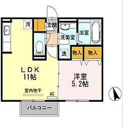 ケントハウス[102号室]の間取り