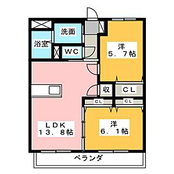 IBB6[4階]の間取り