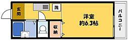 サンライズ柴田パートI[3階]の間取り