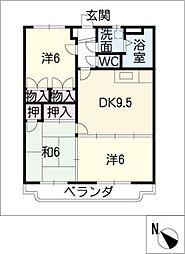 サンライズ宝塚[3階]の間取り