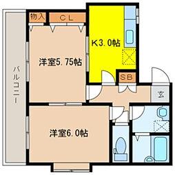 トスカーナ南浦和[6階]の間取り
