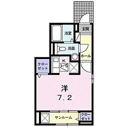 東京都多摩市百草の賃貸アパートの間取り