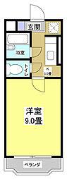 静岡県磐田市見付の賃貸マンションの間取り
