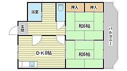 コーポ青山I[503号室]の間取り