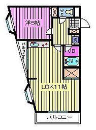 リナス美女木[4階]の間取り