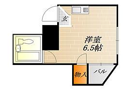 都島GALAXY[3階]の間取り