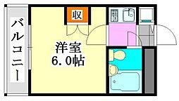 大和船橋マンション[508号室]の間取り