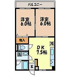 長崎県長崎市橋口町の賃貸マンションの間取り