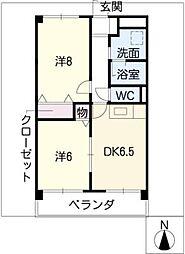 VIVACE SUZUKA[1階]の間取り