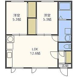 近藤セラミックハウス[2階]の間取り
