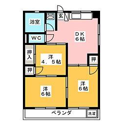 マルヤスハイツ美濃加茂[2階]の間取り