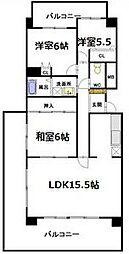 愛知県名古屋市名東区名東本町の賃貸マンションの間取り