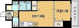 シャルマンフジ天神橋[12階]の間取り