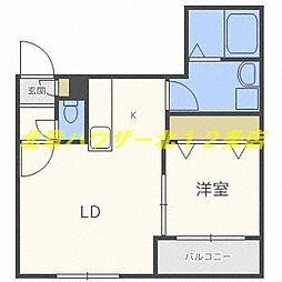 Leia札幌 (レイア サッポロ) 4階1LDKの間取り