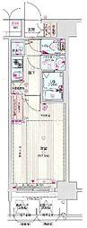 サムティ福島PORTA 4階1Kの間取り