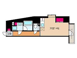 JR東海道・山陽本線 摩耶駅 徒歩9分の賃貸マンション 5階ワンルームの間取り