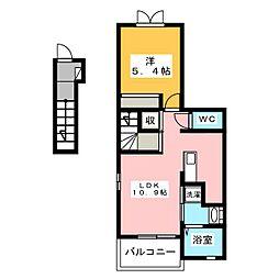 イリーデ・ベル[2階]の間取り