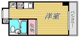 エヴェナール二子新地[4階]の間取り