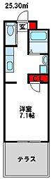 福岡県宗像市土穴4丁目の賃貸アパートの間取り