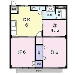 アパート グリンピア[1階]の間取り