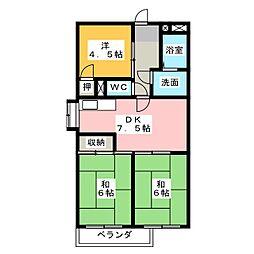 第一丹羽ハイツ[3階]の間取り