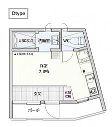 仮称岸谷4丁目アパート[D号室]の間取り