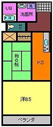 シンセール・メゾン[2階]の間取り