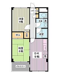 コートグランマニエ[3階]の間取り