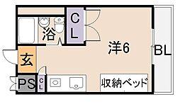 コーポタナベ[4階]の間取り