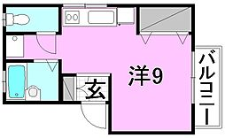 セジュール正円寺[202 号室号室]の間取り