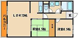 晏如ビル[3階]の間取り