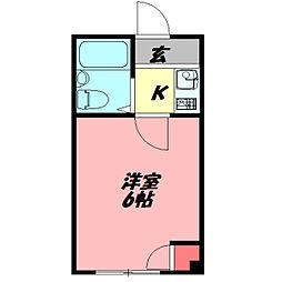 ジョイス千林 5階ワンルームの間取り