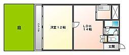 東カングランドマンション大濠パークサイド[1階]の間取り