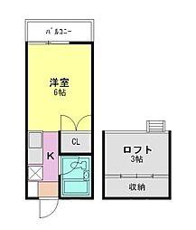 ゼフィール3[1階]の間取り