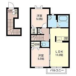 シャーメゾン扇 III番館[2階]の間取り
